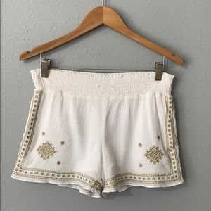 Jcrew embroidered shorts